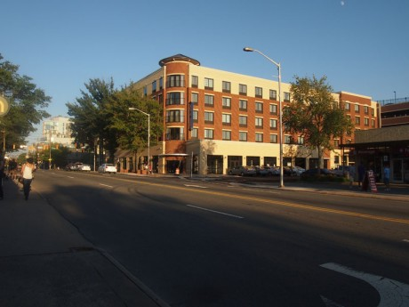 The new Hampton Inn and Suites on E. Main Street, Carrboro. (Staff photo by Kali Hackett)