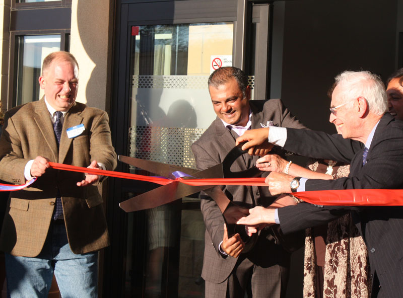 From Monday evening's ribbon cutting at Carrboro's new Hampton Inn on East Main Street. (Staff photo by Kaitlyn Kelly)