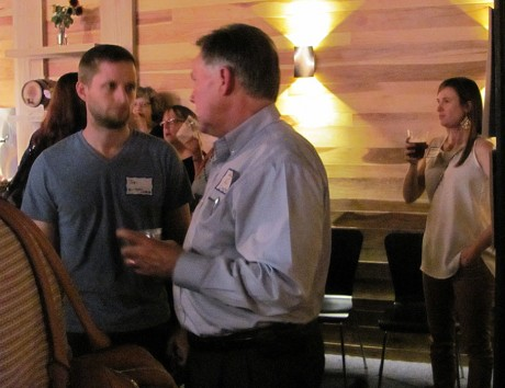 Local business owners gather at the Carrboro Business Alliance's kickoff event Thursday.