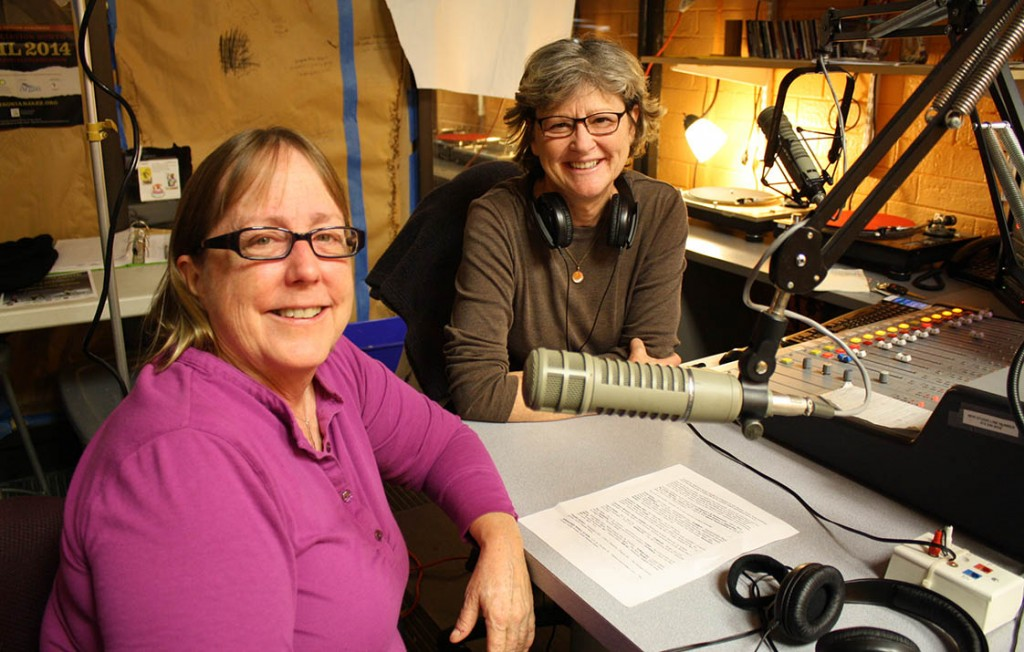 Jackie Helvey and Valarie Schwartz in the radio station. (Staff photo ....