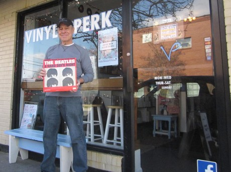 Jay Reeves opened Vinyl Perk in the hopes that it would be an essential community hub for people who like coffee, the coffee experience, vinyl records, and sharing in a community.
