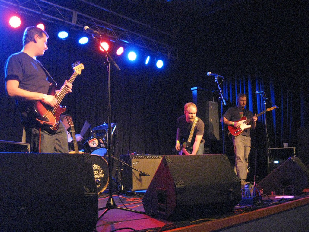 The indie rock band The 8:59's performs Thursday in the Cat's Cradle Back Room. Cat's Cradle owner Frank Heath has said he needs a bigger facility to stay competitive in the Triangle, sparking fears that Carrboro could lose the popular venue. (Staff photo by Brian Freskos)