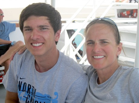 Jackson Overbeck (left) with his mother and former U.S. women's soccer national team player Carla Overbeck (right). Photo courtesy of Jackson Overbeck.