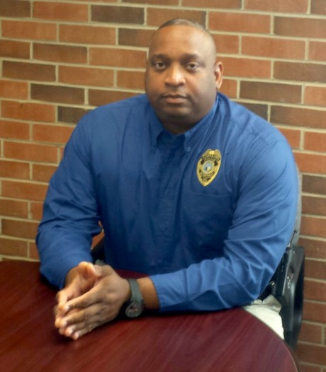 Carrboro Police Chief Walter Horton poses for a picture in his downtown office. Horton has been with the department since 1993, and has served as chief since October 2013.