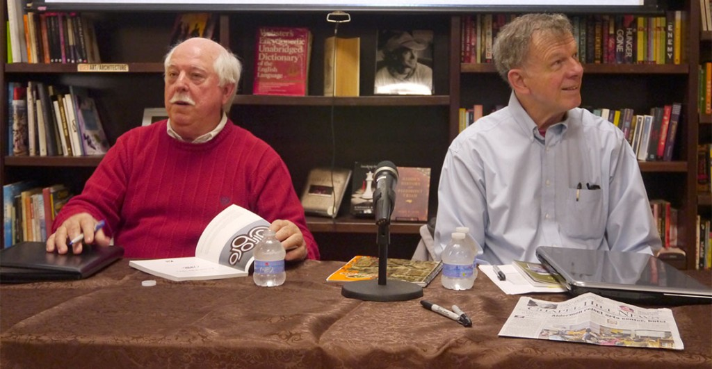 Dave Otto and Richard Ellington's second book documents the changes Carrboro has gone through since 1950. Otto says that what people see today in the town may not be what is here in ten years, or even five years. (Staff photo by Sophie Wu)
