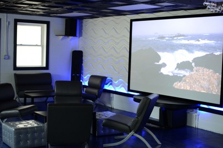 Krave offers customers a back lounge area with mood lighting, ample couch space and a relaxing projection screen.