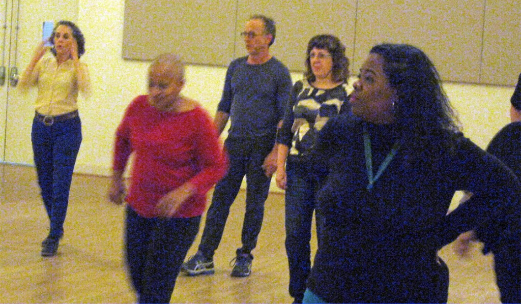 Dancers at the Centurty Center in Carrboro enjoy their Dance Jam session. (Staff photo by Brandon White)
