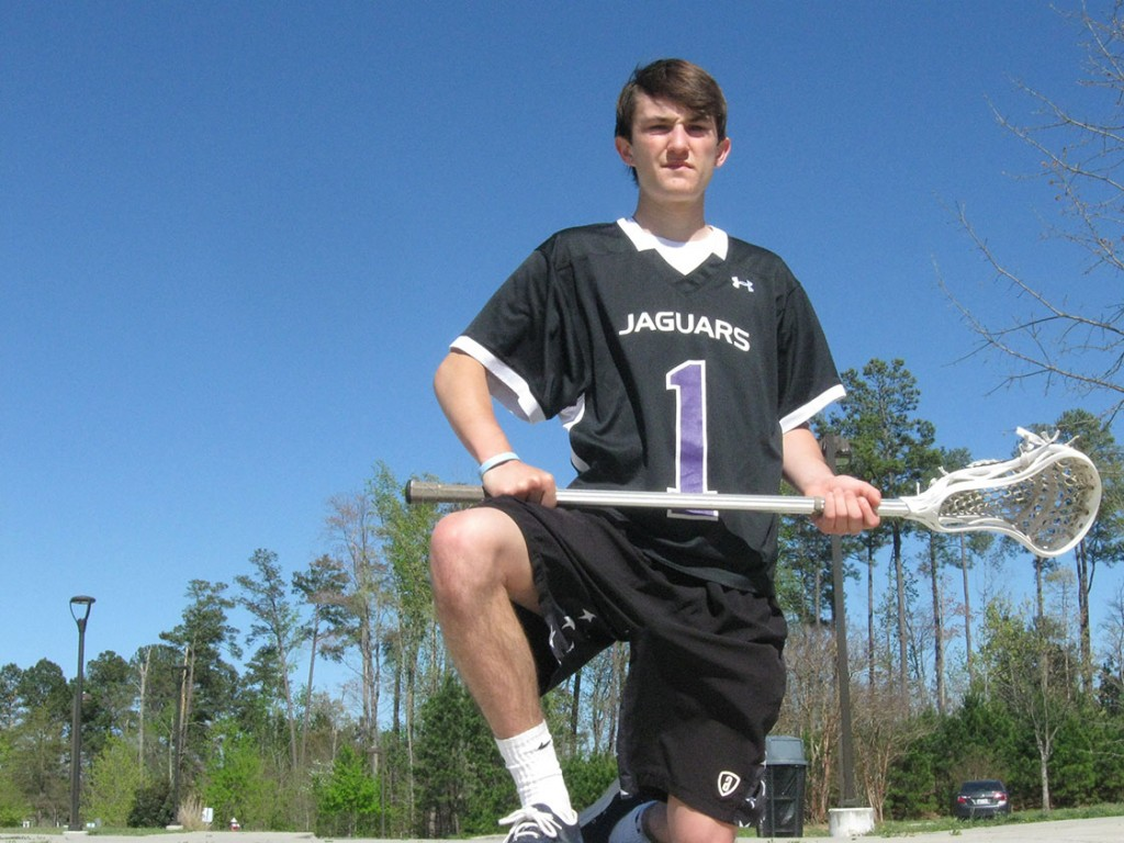 Jake Melville is leading the Carrboro boy's lacrosse team to its best season in history. He said the whole team has a chip on its shoulder when it plays bigger teams, and that he creates personal rivalries with bigger defenders. (Staff photo by Ben Coley)